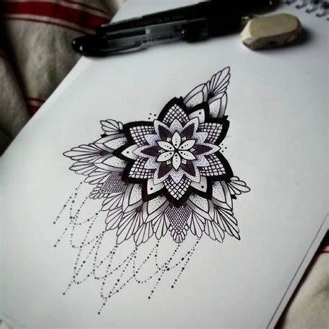 london tattoo design mandala design underboob by alexine