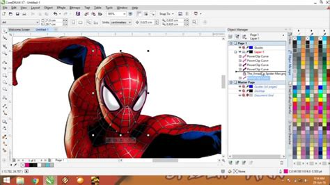 tutorial vector corel draw youtube spider man vector trace coreldraw tutorial youtube