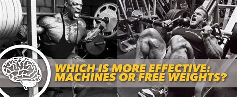 which is more effective machines or free weights