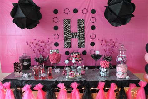 Zebra Print Home Decor pink and black zebra print party supplies for baby shower