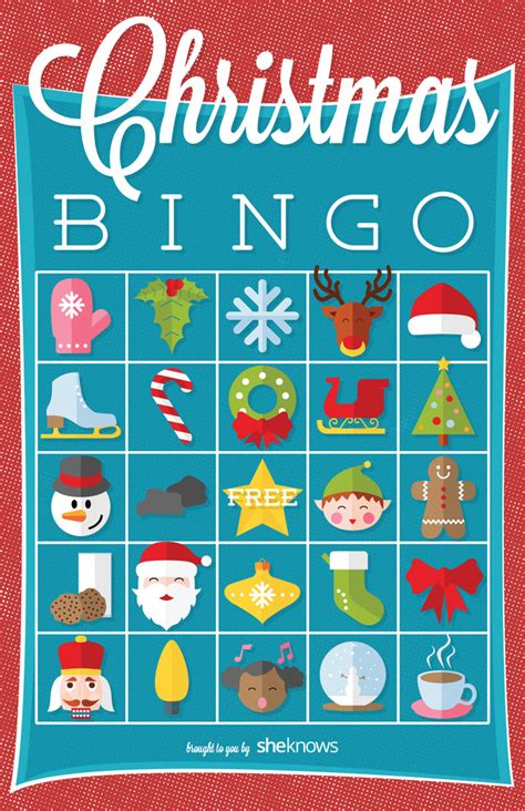 printable holiday bingo games christmas bingo with pictures to print free search