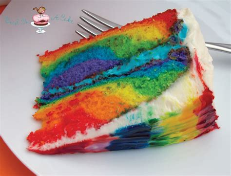 bird on a cake rainbow tie dye cake