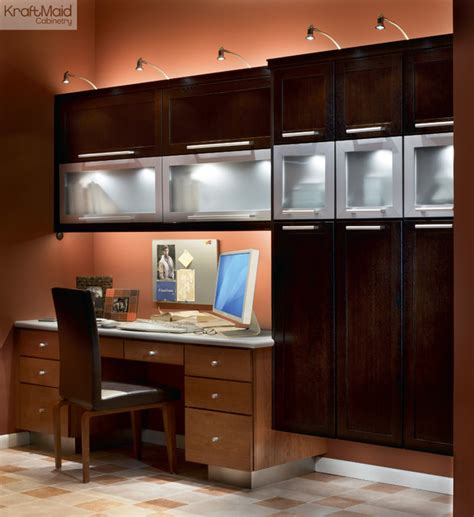 kitchen cabinets for home office kraftmaid quartersawn oak door in peppercorn
