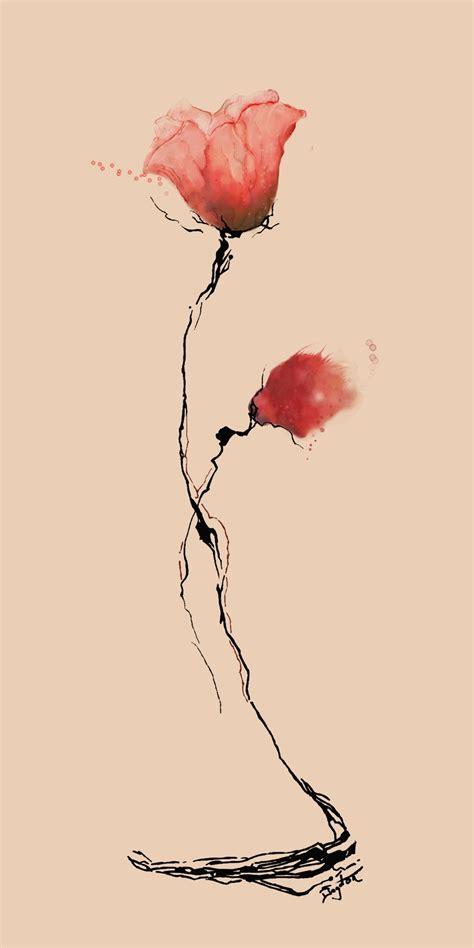 watercolor poppy tattoo poppy flower watercolor by boogiemanu on deviantart