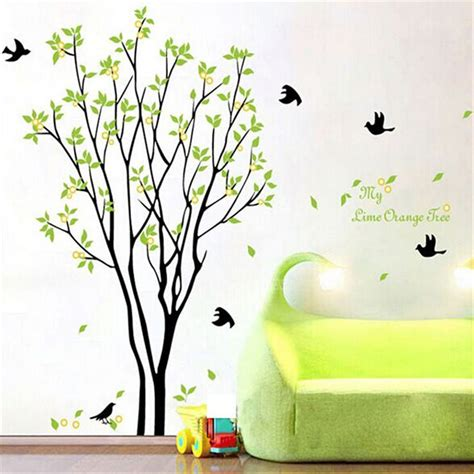 home theater vinyl wall decals stickers removable art tree bird quote removable vinyl wall decal mural home art