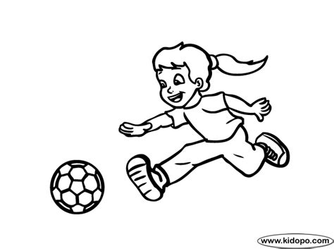 Girl Soccer Player Coloring Page Soccer Player Coloring Page