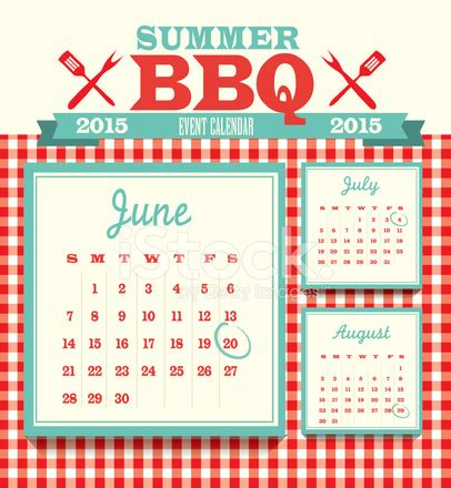 design event calendar 2015 picnic event 2015 calendar design template stock vector