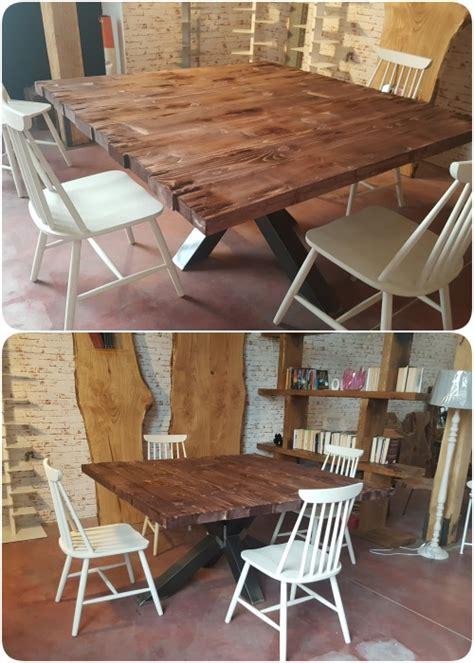 tavoli quadrati grandi cooper tavolo quadrato in legno massello di design