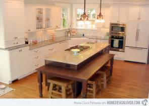 Kitchen Island As Table by 15 Beautiful Kitchen Island With Table Attached Fox Home
