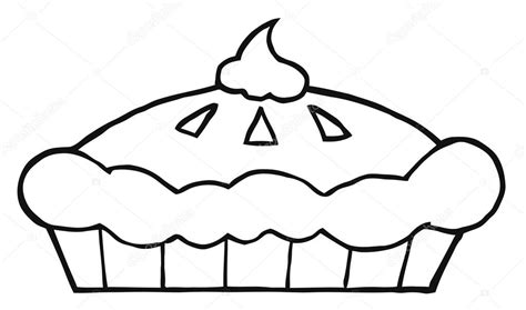thanksgiving coloring pages pumpkin pie outlined thanksgiving pie stock photo 169 hittoon 4727549