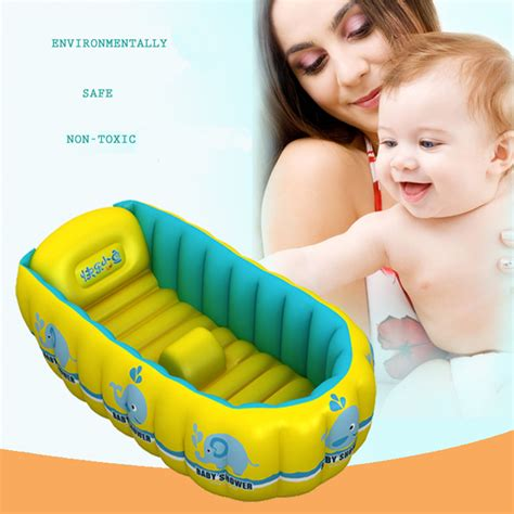 bathtub kids portable inflatable baby bath 0 3 years old kids bathtub