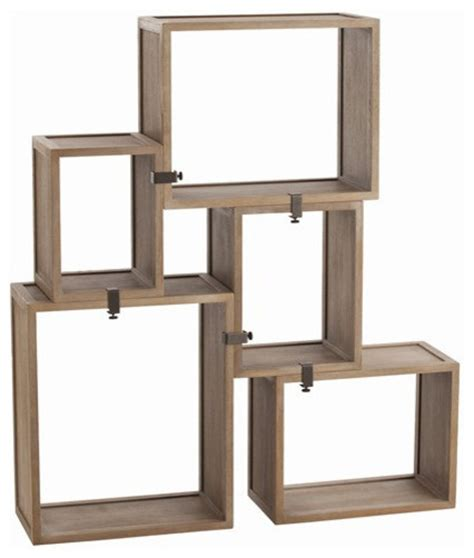 modular wall shelves arteriors home stockard oak modular shelves arteriors