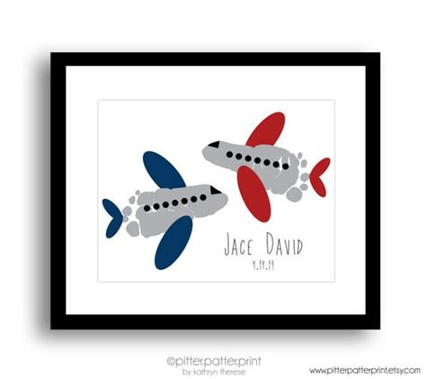 airplane decor boys zimmer travel nursery airplane baby footprint plane