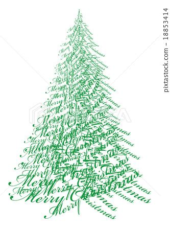 christmas tree with text vector 스톡일러스트 18853414 pixta