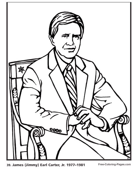 printable coloring pages us presidents president s day jimmy