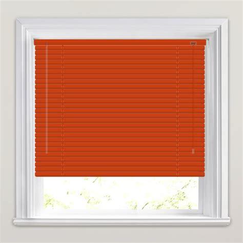 Made to measure vibrant orange terracotta venetian blinds