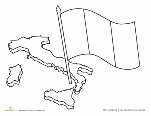 italian flag coloring page education com
