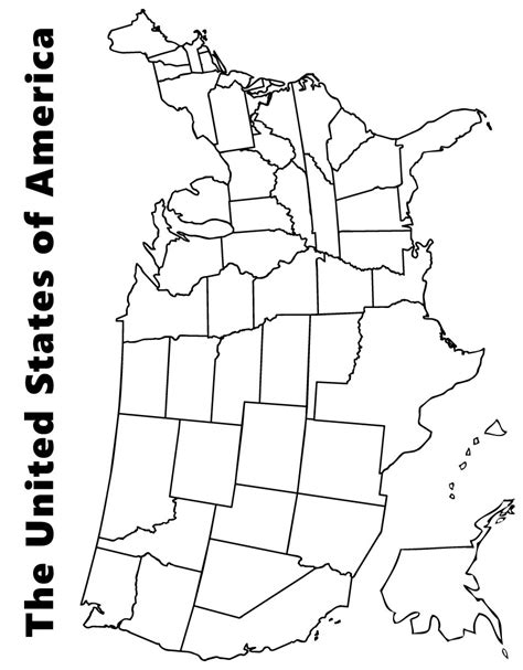 printable us map maps coloring pages map of the usa