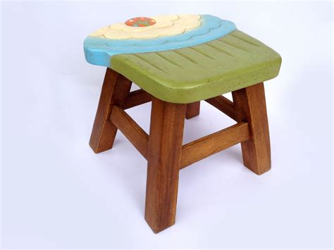childrens wooden stools with name cupcake stool stool sitting stool painted wooden