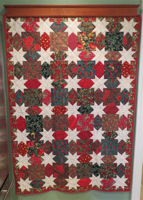 christmas pattern bedding quilting on main street christmas quilts past