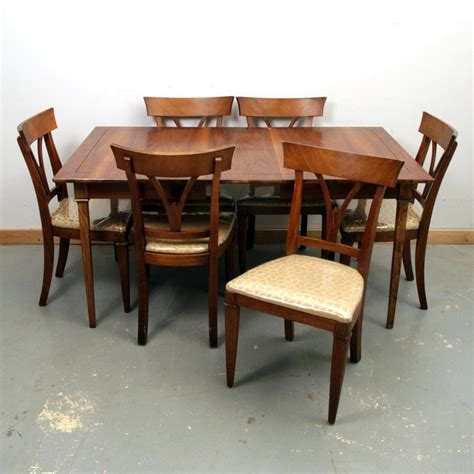vintage style dining table and chairs vintage biedermeier style walnut dining table and chairs