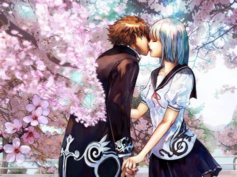download wallpaper anime couple anime kissing wallpaper wallpapersafari