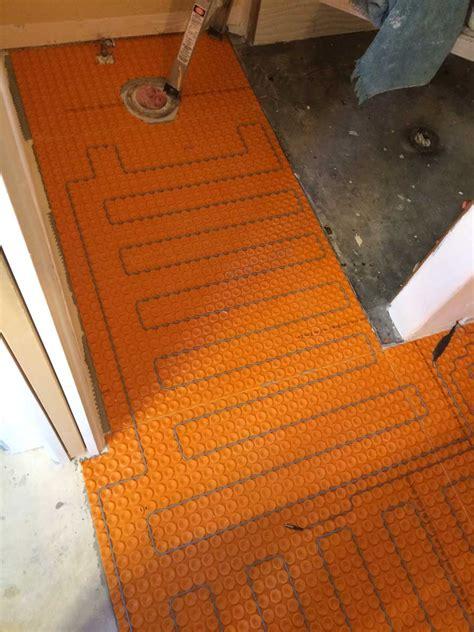 Ditra Tile Floor Underlayment Substitute - a warm floor for your bathroom remodel durango