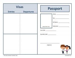 passport template for students here s a free passport that you can use when studying