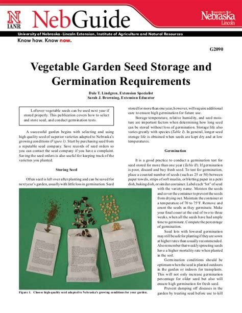Vegetable Garden Seed Storage And Germination Requirements Vegetable Garden Nutrient Requirements