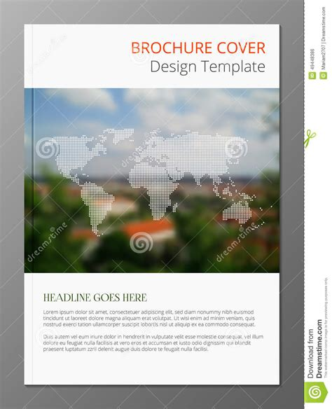 landscape brochure template tourism brochure cover stock vector image 49448386