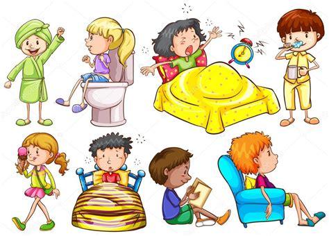 imagenes animadas varias cosas ni 241 os realizando diferentes actividades vector de stock