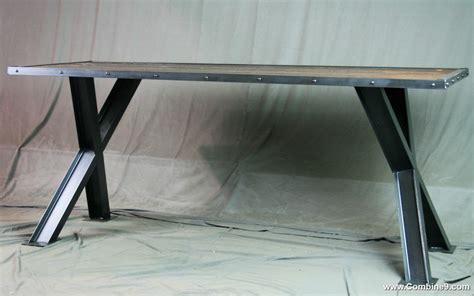 Combine 9   Industrial Furniture ? Industrial Cross Beam Table