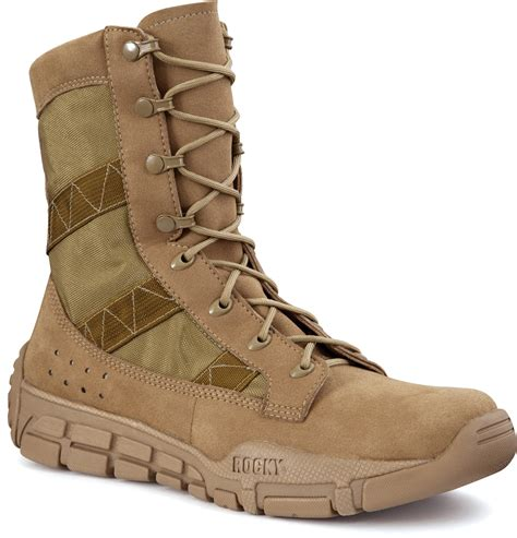 lightweight duty boots rocky mens coyote brown faux leather lightweight c4t