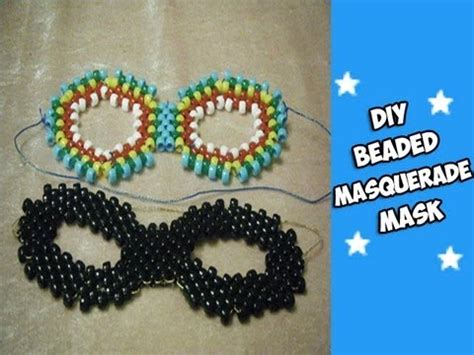 how to make a bead mask how to make a beaded masquerade mask kandi tutorial