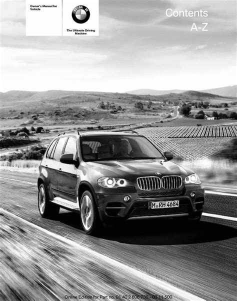 manual repair autos 2012 bmw x5 m instrument cluster bmw 2012 x5 x6 m xdrive 35i 35d 50i owners owner manual download