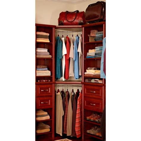 closetmaid expandable closet rod closetmaid impressions 17 in dark cherry corner rounder