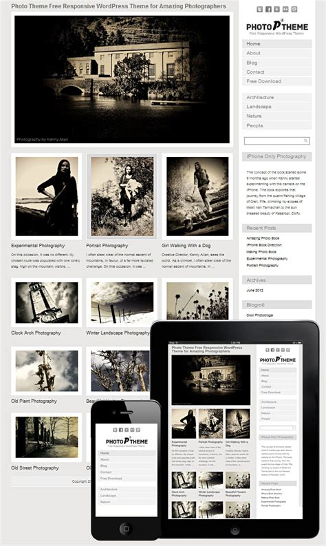 free grid style wordpress themes