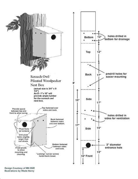 Screech Owl Box Bird House Plans Pinterest Nests Screech Owl House Plans