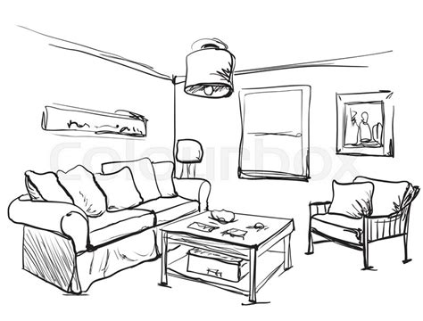 Living Room Interior Sketch Table by Living Room Interior Sketch Table Sofa And Other
