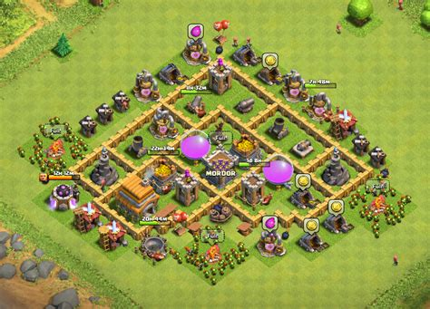 layout of coc town hall 6 clash of clans town hall 6 layout clash of clans