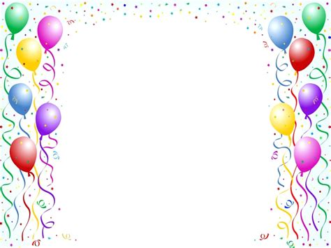 birthday card border templates template happy birthday template for word