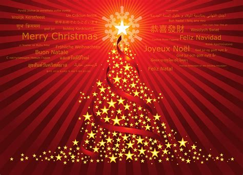 christmas holiday christmas tree red background star new year holiday