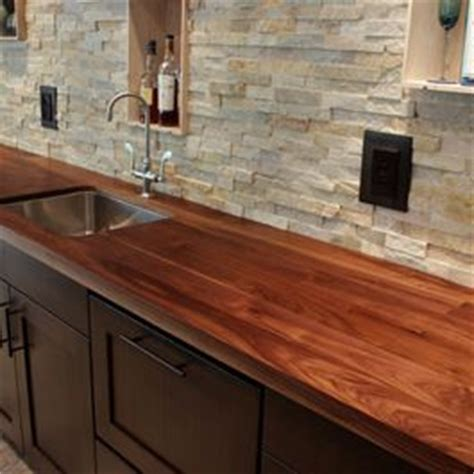 Butcher Block Countertops Atlanta by Stacked Backsplash I Would This Be To Clean