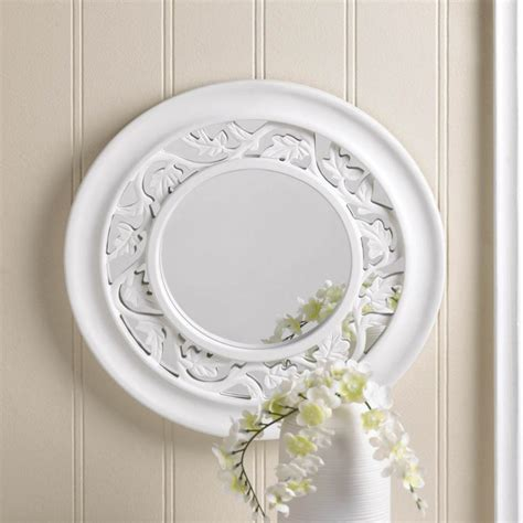 decor mirror ivy white wall mirror round wooden new home decor ebay
