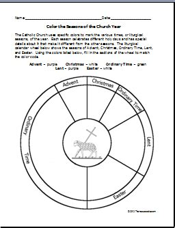 Liturgical Year Coloring Page that resource site color the seasons of the church year