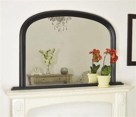 large black arched  mantle mirror  cm  cm