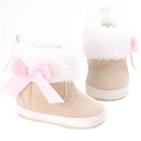 toddler infant baby winter snow booties soft sole