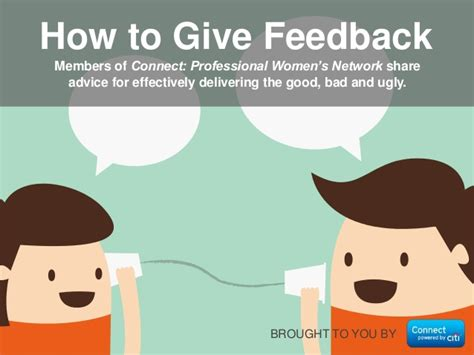 how to give to how to give feedback