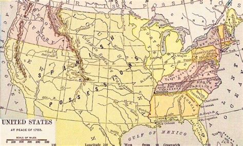united states in 1783 map enlargement map of the u s in 1783 archiving early america