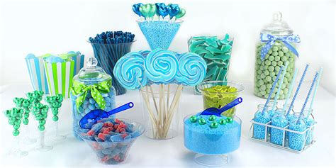 Green Blue Candy Buffet Party Delights Green And Blue Buffet